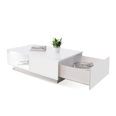 This stunning coffee table can complete your living room and add brightness to your lounge space. Modern High Gloss coffee table Storage with 1 drawer ...