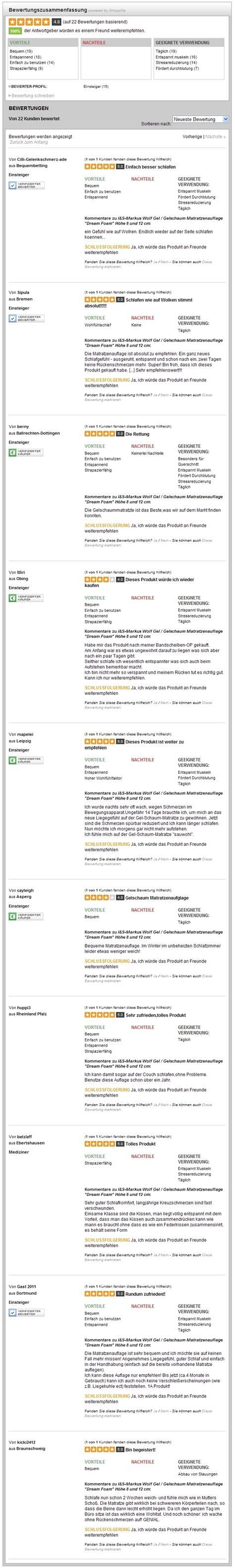 Schutz Fur Matratzen Gelmatratzenauflage Gelauflage 12 Cm Wie Wasserbett