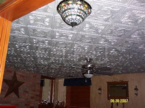 styrofoam tiles installed ceiling tiles
