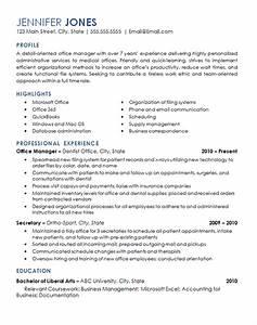 Marketing Resumes Office Management Resume Example Medical Dental Office