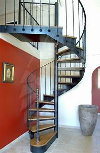 Escalier Fer Et Bois : photo dh45 spir 39 d co bistrot sans contremarche mod le ~ Dailycaller-alerts.com Idées de Décoration