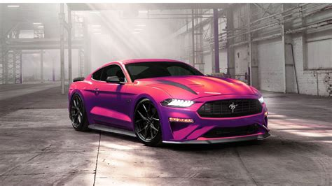 wallpaper ford mustang ecoboost pink  automotive