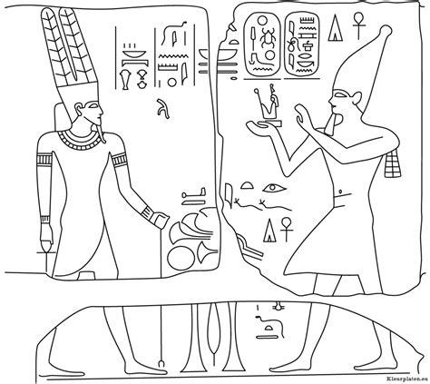 Kleurplaat Egyptenaren egypte kleurplaat 725595 kleurplaat
