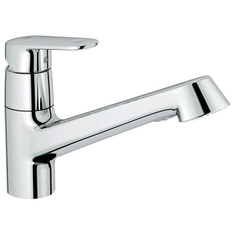 single handle pull out kitchen faucet grohe europlus single handle pull out sprayer kitchen