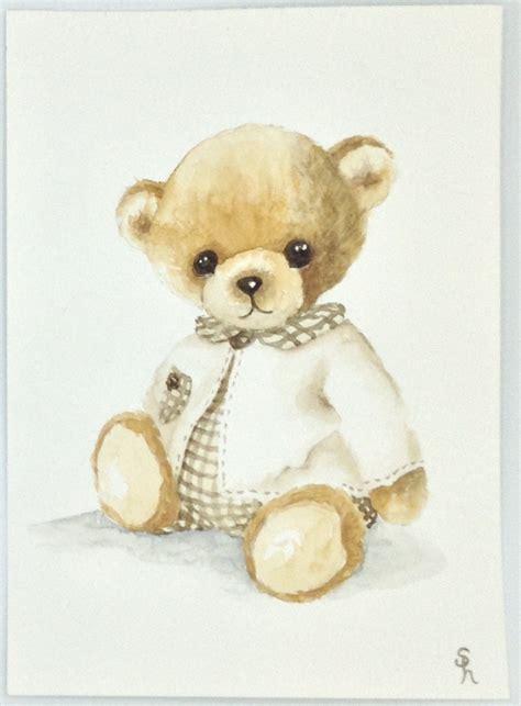 stickers chambre bébé nounours tableau nounours aquarelle pour chambre d 39 enfant jeux