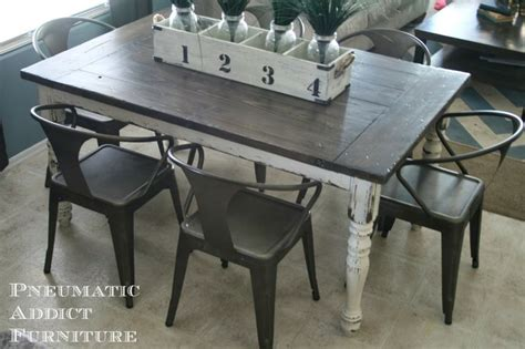 diy country kitchen table farmhouse tables with industrial chairs diy industrial 6808