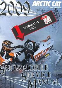 Arctic Cat 2009 M8 Efi 162 Sno Pro Service Manual