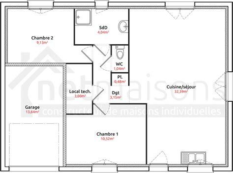plan maison 7 chambres modele maison plain pied 2 chambres segu maison