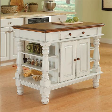 white kitchen island cart shop home styles white farmhouse kitchen islands at lowes com