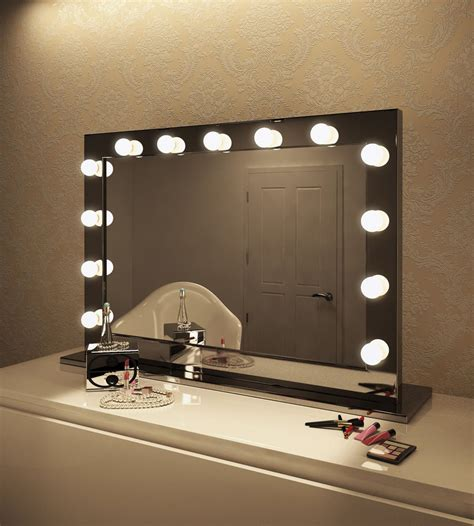 makeup vanity table with lighted mirror uk led vanity makeup mirror ebay