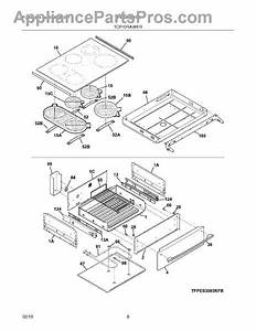 Parts For Frigidaire Fpes3085kfb  Top    Drawer Parts