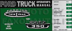 1966 Ford Truck Repair Shop Manual Set On Cd