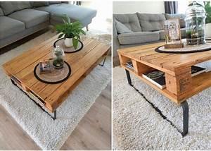 Table Basse Palettes : vos outils la table basse palette diy de coline clem ~ Melissatoandfro.com Idées de Décoration