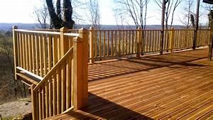 extension maison en ossature bois With modele escalier exterieur terrasse 8 balustrade bois exterieur pas cher