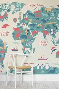 Tapisserie Carte Du Monde : le poster carte du monde g ante vous donne envie voyager ~ Teatrodelosmanantiales.com Idées de Décoration