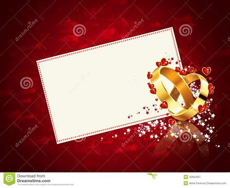 romantic wedding card stock illustration image  golden