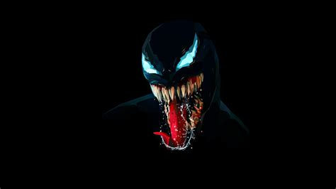 Wallpaper Venom, Artwork, Minimal, Dark Background, Black
