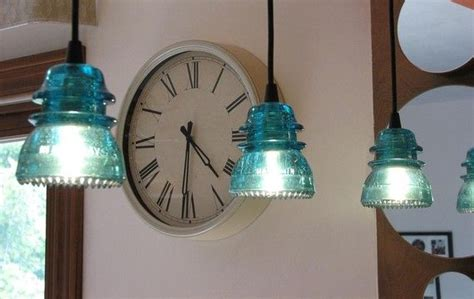 glass insulators used as pendant lights lighting diy