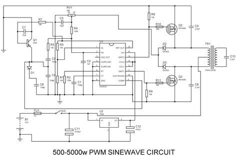 Sinewave Inverter Circuit Pwm Technological