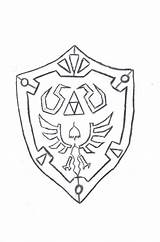 Shield Coloring Outline Pages Hyrule Drawing Link Medieval Ctr Drawings Cliparts Outlines Deviantart Links Attribution Forget Don Printable Getdrawings Anime sketch template