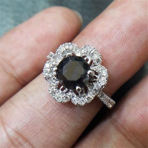 jual cincin wanita berlian hitam black 0335 ring emas berlian cincin dan batu batu