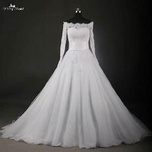 rsw737 boat neck long sleeve lace wedding dresses bateau With bateau neckline wedding dress