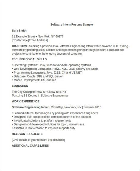 Engineering Internship Resume by Engineering Resume Template 32 Free Word Documents