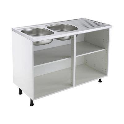 meuble cuisine sous evier 120 cm meuble sous évier 120 cm blanc castorama