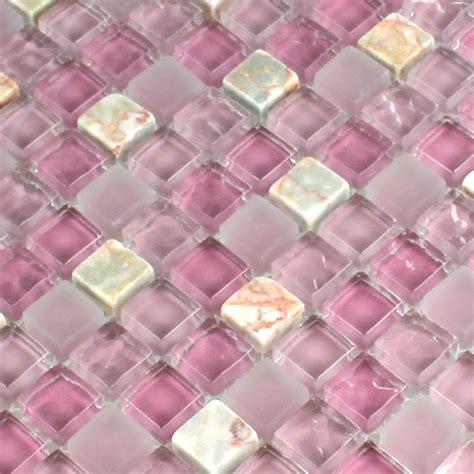 glas marmor mosaik fliese rosa mix 15x15x8mm tm33051m