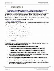 disaster recovery templates 32 page ms word 12 excel With disaster recovery plan checklist template