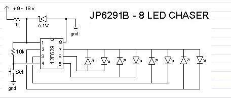 led light chaser circuit diagram led chaser ii led and light circuit circuit diagram