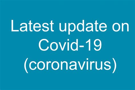 Latest update on Coronavirus (Covid-19) | Department of Health