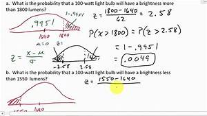 Normal Distribution Word Problems