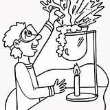 Science Explosion Coloring Sheet Colorir Cientista Desenhos Printable Colorear Chemistry Ciencias Laboratorio Chemie Mad Cuadernos Desenho Quimico Printables Tudodesenhos Adult sketch template