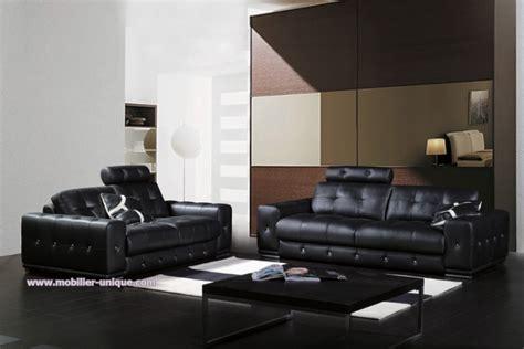canapé cuir 3 2 1 ensemble de canapés en cuir design 3 1 places mahé