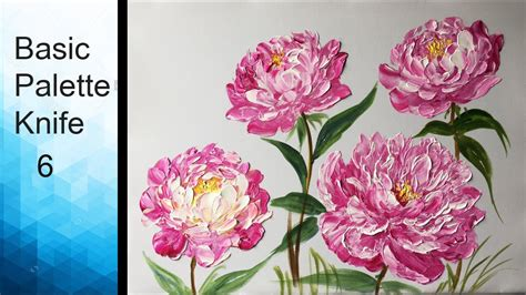 Paint Peony Flowers With Acrylic Paints And A Palette