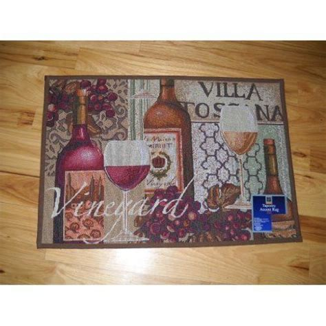 cheap wine and grapes kitchen decor and white wine kitchen throw rug villa toscana