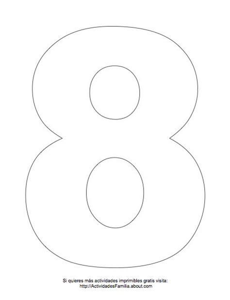 Dibujos De Números Para Colorear Número 8 Para Colorear
