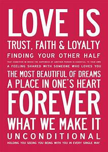 'love is' inspirational poster or canvas by i love design ...