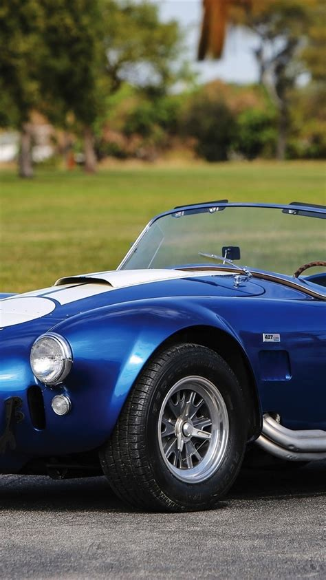 wallpaper  shelby cobra  sc ford blue car  qhd picture image