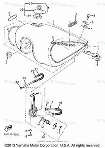 Yamaha Motorcycle 1988 Oem Parts Diagram For Fuel Tank Non