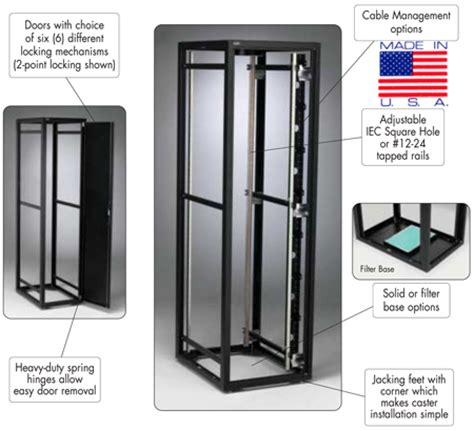 Used C Tech Cabinets by 32u 42 Quot With Front Rear Doors Side Panels Custom