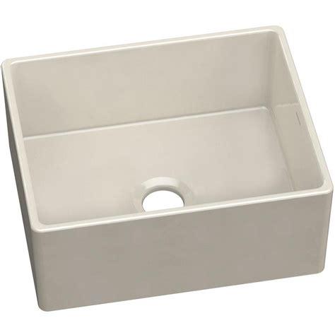 elkay kitchen sinks elkay farmhouse apron front fireclay 24 in single bowl 3557