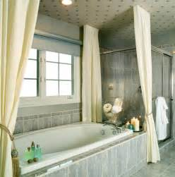 bathroom with shower curtains ideas give your bathroom the luxury of curtains terrys fabrics 39 s