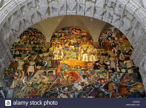 mural by diego rivers depicting the history of mexico