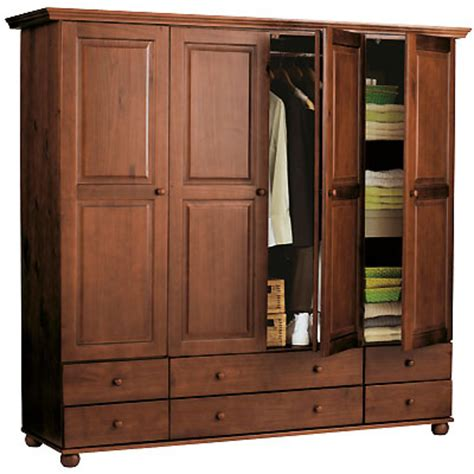 armoire 4 portes 6 tiroirs 1 2 penderie 1 2 ling 232 re
