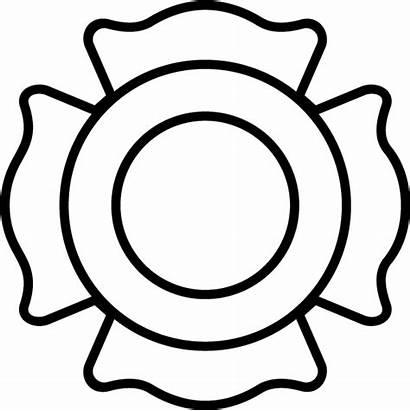Fire Maltese Cross Line Decal Shield Department