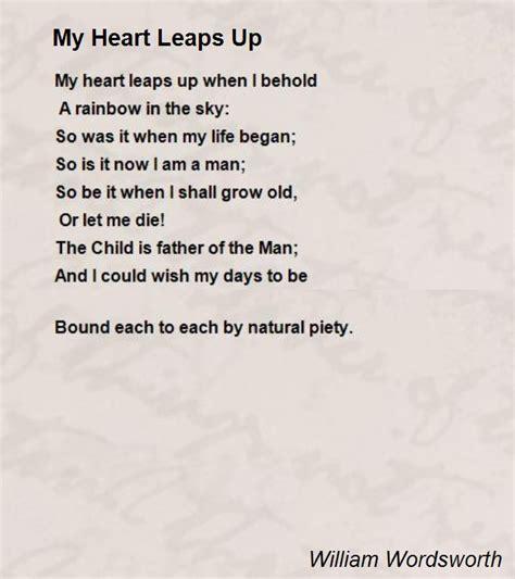 heart leaps  poem  william wordsworth poem hunter