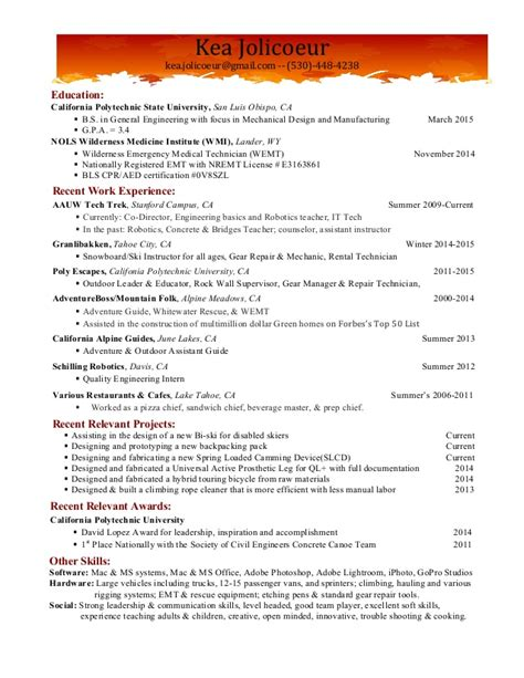Resume Guide by Guide Resume With Cooking Experience