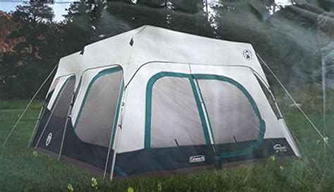 coleman 10 person instant cabin tent coleman instant 10 person cabin tent with fly 2 rooms